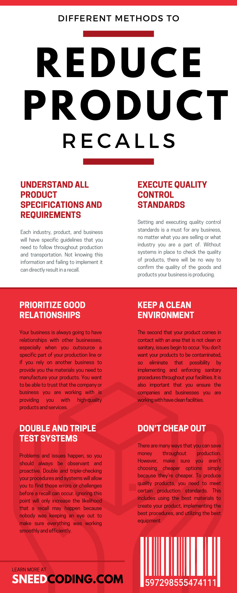 Different Methods To Reduce Product Recalls