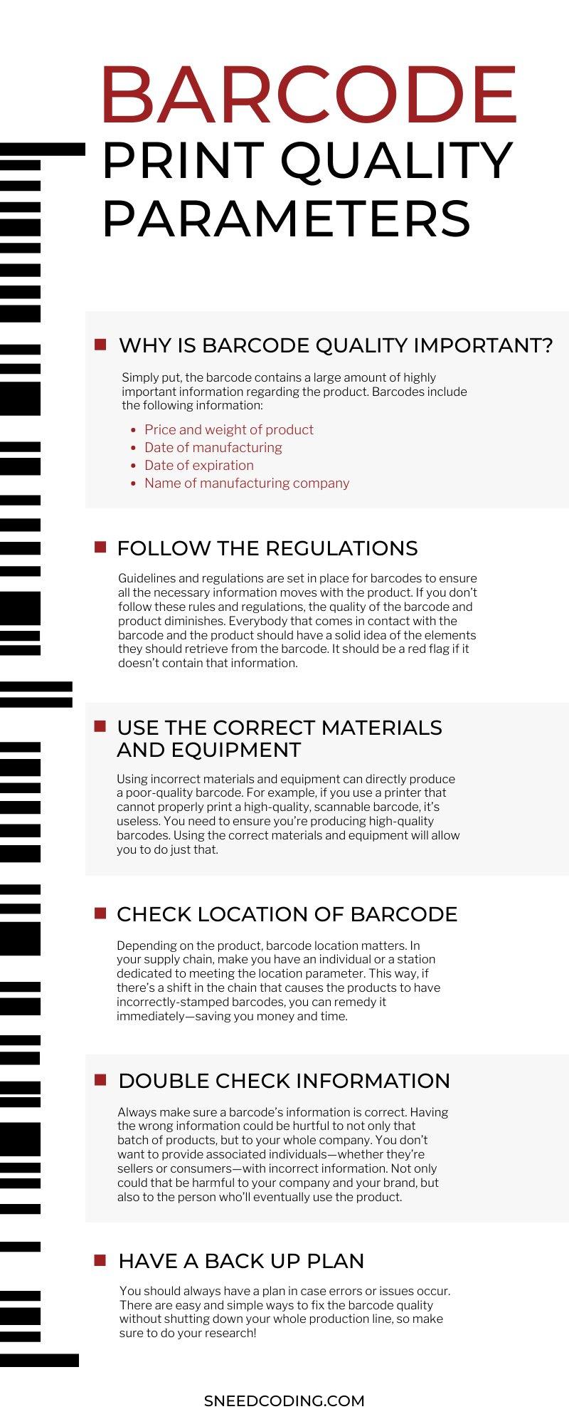 Barcode Print Parameters