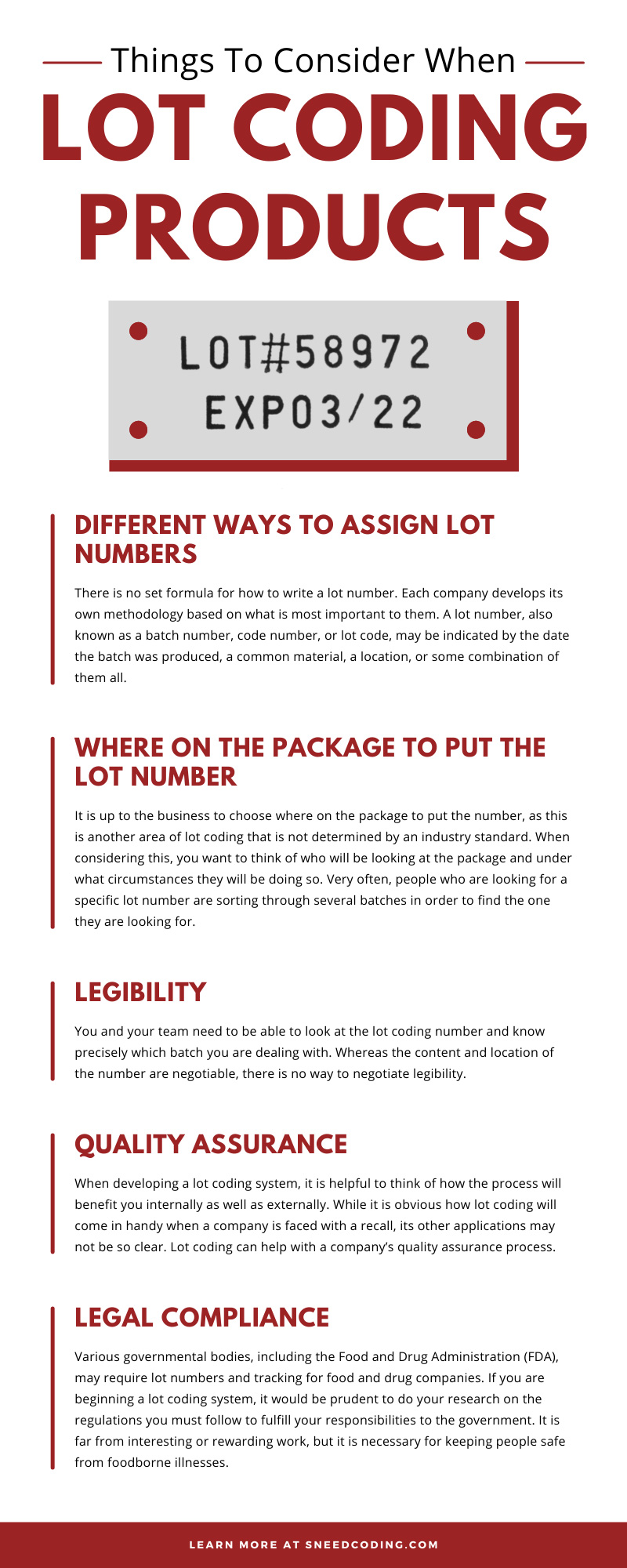Things To Consider When Lot Coding Products