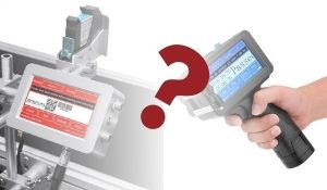 Portable Handheld vs. Conveyor Mount Inkjet Coders